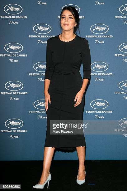 Actress Leila Bekhti attends the 'Cannes Film Festival 70th anniversary' Party at Palais Des Beaux Arts on September 20 2016 in Paris France