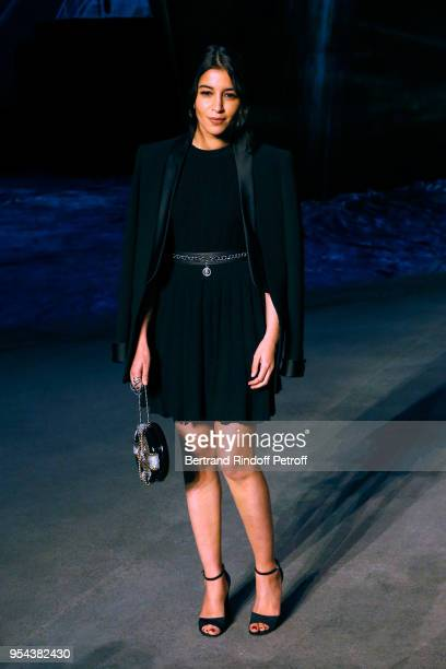 Actress Leila Bekhti attends the Chanel Cruise 2018/2019 Collection Photocall at Le Grand Palais on May 3 2018 in Paris France