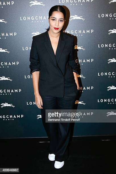 Actress Leila Bekhti attends the Longchamp Elysees 'Lights On Party' Boutique Launch on December 4 2014 in Paris France