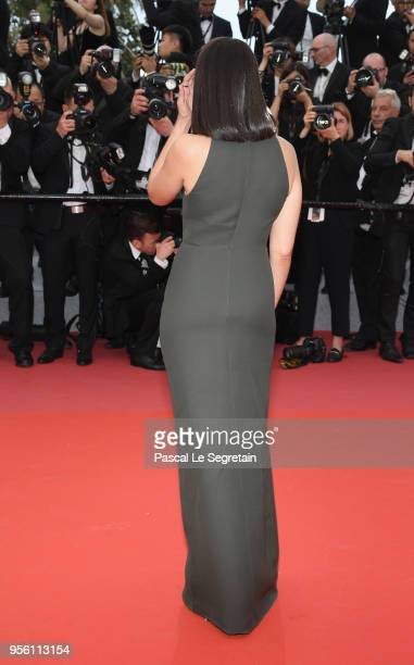 Actress Leila Bekhti back detail attends the screening of 'Everybody Knows ' and the opening gala during the 71st annual Cannes Film Festival at...