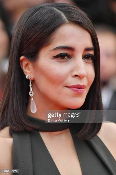 Actress Leila Bekhti earring detail attends the screening of 'Everybody Knows ' and the opening gala during the 71st annual Cannes Film Festival at...