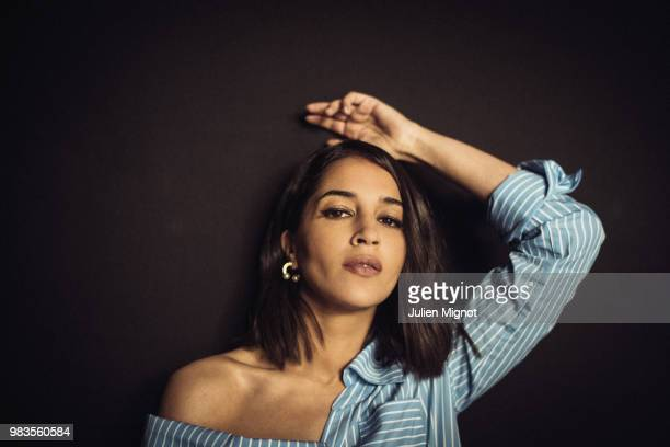 Actress Leila Bekhti is photographed for Grazia Daily on May 2018 in Cannes France