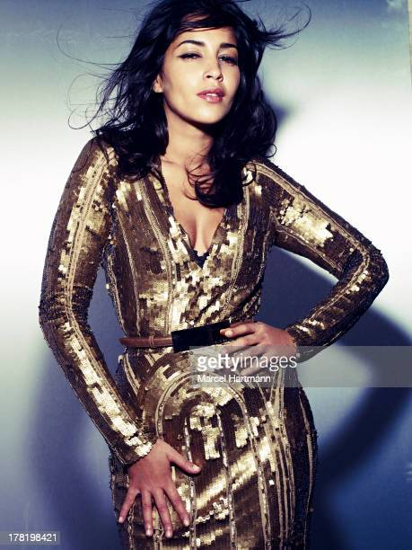 Actress Leila Bekhti is photographed for Marie Claire Magazine on November 1 2012 in Paris France