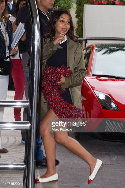 Actress Leila Bekhti is seen at the 'MARTINEZ' hotel on May 18 2012 in Cannes France