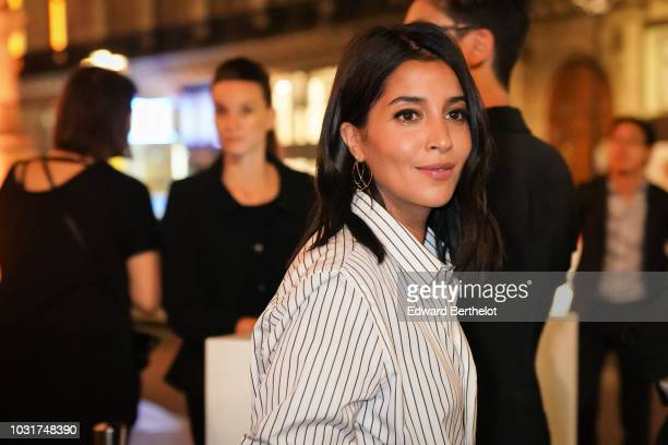 Actress Leila Bekhti is seen outside the Longchamp 70th Anniversary Celebration at Opera Garnier on September 11 2018 in Paris France