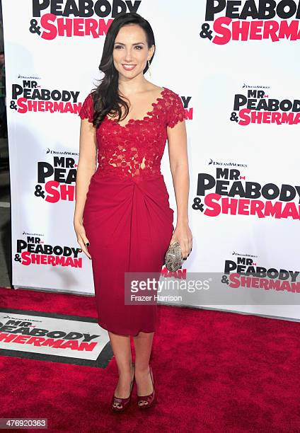 Actress Leila Birch arrives at the Premiere of Twentieth Century Fox and DreamWorks Animation's Mr Peabody Sherman at Regency Village Theatre on...