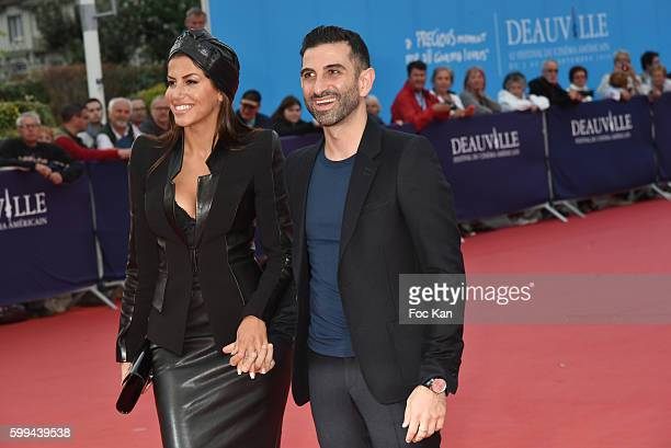 Actress Leila Boumedjane and Kheiron attend Where To Invade Next during the 42nd Deauville American Film Festival Day Three at CID on September 4...