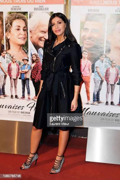 "Actress Leila Boumedjane attends ""Mauvaises Herbes"" Premiere at UGC Cine Cite des Halles on November 12, 2018 in Paris, France."