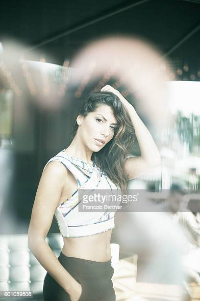 Actress Leila Boumedjane is photographed for Self Assignment on September 6 2016 in Deauville France
