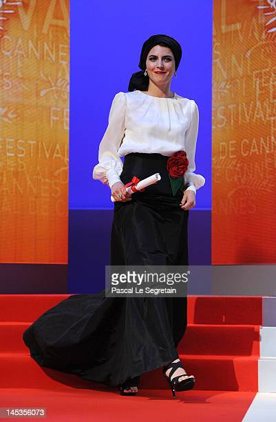 Actress Leila Hatami appears onstage at the Closing Ceremony during the 65th Annual Cannes Film Festival on May 27 2012 in Cannes France