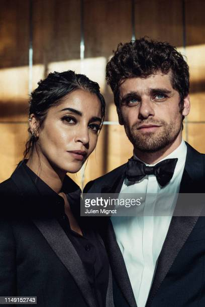 Actress Leïla Bekhti and actor Arthur Dupont poses for a portrait on May 21 2019 in Cannes France