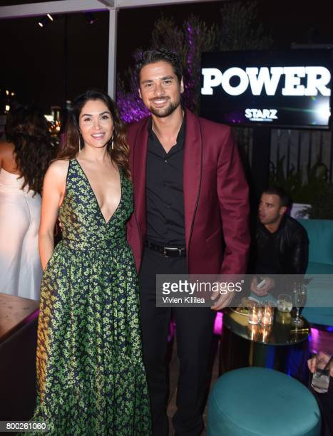 Actress Lela Loren and actor JR Ramirez attend STARZ Power Season 4 LA Screening And Party at The London West Hollywood on June 23 2017 in West...