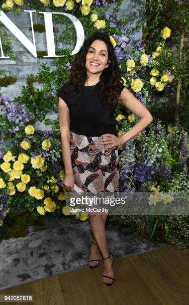 Actress Lela Loren attends New York Red Carpet Premiere Screening Event of STARZ Howards End at the Whitby Hotel on April 4 2018 in New York City