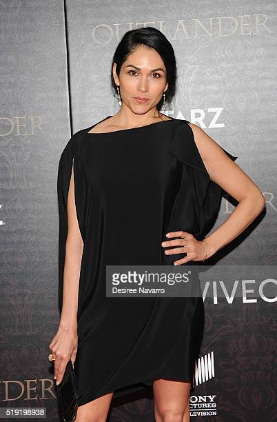 Actress Lela Loren attends 'Outlander' Season Two World Premiere at American Museum of Natural History on April 4 2016 in New York City