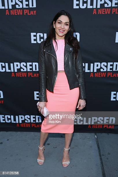 Actress Lela Loren attends the Eclipsed broadway opening night at The Golden Theatre on March 6 2016 in New York City