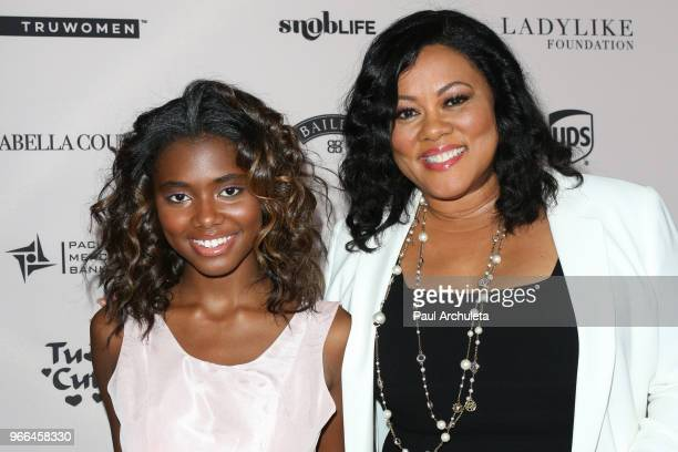 Actress Lela Rochon and her Daughter Asia Rochon Fuqua attend the Ladylike Foundation's 2018 Annual Women Of Excellence Scholarship Luncheon at The...
