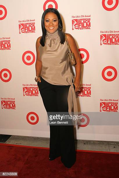 Actress Lela Rochon attends A Conversation with Young Hollywood Day Three of the 12th Annual American Black Film Festival on August 9 2008 in Los...