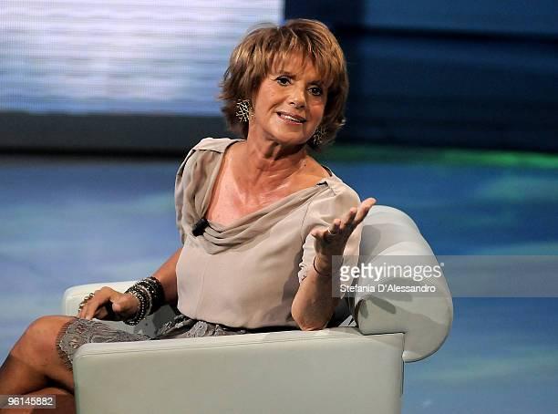 Actress Lella Costa attends 'Che Tempo Che Fa' Italian Tv Show on January 24 2010 in Milan Italy