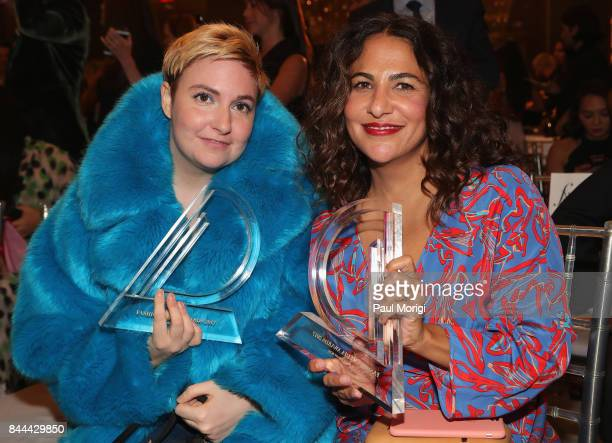 Actress Lena Dunham and director Jenni Konner attend the Daily Front Row's Fashion Media Awards at Four Seasons Hotel New York Downtown on September...