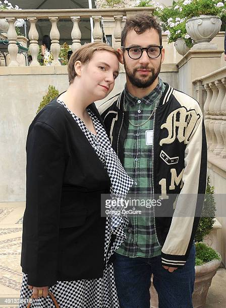 Actress Lena Dunham and musician Jack Antonoff arrive at The Rape Foundation's Annual Brunch at Greenacres, The Private Estate of Ron Burkle on...