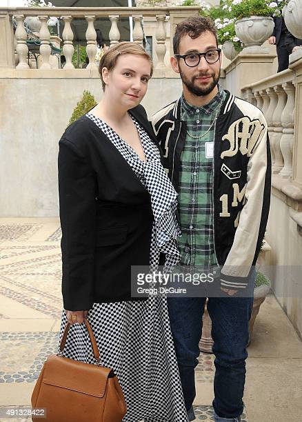 Actress Lena Dunham and musician Jack Antonoff arrive at The Rape Foundation's Annual Brunch at Greenacres The Private Estate of Ron Burkle on...