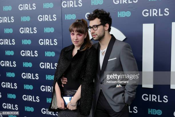 Actress Lena Dunham and Musician Jack Antonoff attend the New York Premiere of the Sixth Final Season of 'Girls' at Alice Tully Hall Lincoln Center...