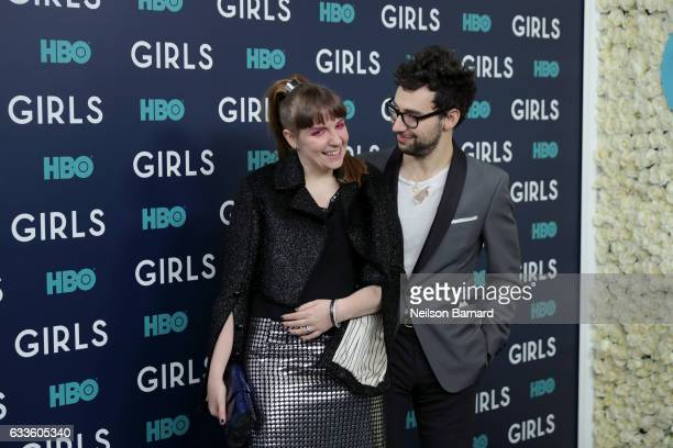 "Actress Lena Dunham and Musician Jack Antonoff attend the New York Premiere of the Sixth & Final Season of ""Girls"" at Alice Tully Hall, Lincoln..."