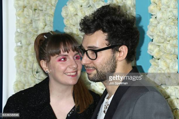 Actress Lena Dunham and musician Jack Antonoff attend the the New York premiere of the sixth and final season of 'Girls' at Alice Tully Hall Lincoln...