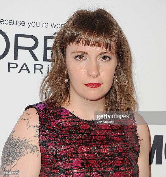 Actress Lena Dunham arrives at Glamour Women Of The Year 2016 at NeueHouse Hollywood on November 14 2016 in Los Angeles California