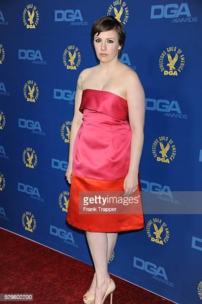 Actress Lena Dunham arrives at the 65th Annual Directors Guild Awards held at the Ray Dolby Ballroom at Hollywood Highland