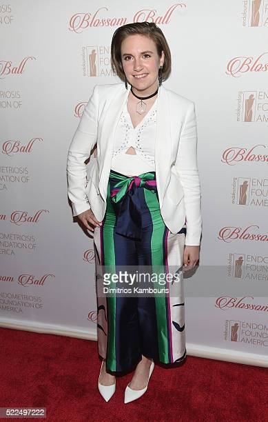 Actress Lena Dunham arrives at the 8th Annual Blossom Ball benefiting the Endometriosis Foundation of America hosted by EFA Founders Padma Lakshmi...