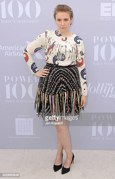Actress Lena Dunham arrives at The Hollywood Reporter's Annual Women In Entertainment Breakfast at Milk Studios on December 9 2015 in Los Angeles...