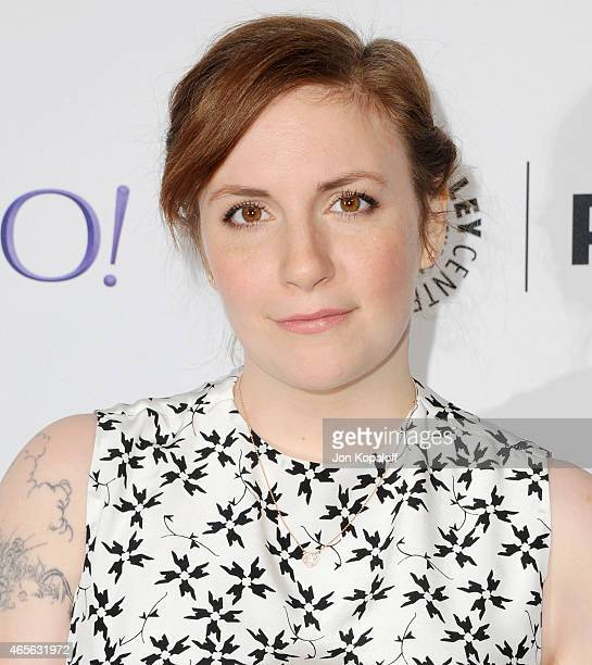 """Actress Lena Dunham arrives at The Paley Center For Media's 32nd Annual PALEYFEST LA - """"Girls"""" at Dolby Theatre on March 8, 2015 in Hollywood,..."""