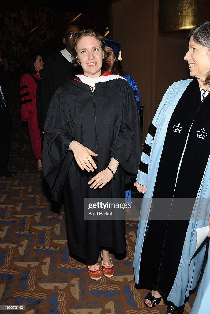 Actress Lena Dunham attends 2013 Barnard College Commencement at Radio City Music Hall on May 19, 2013 in New York City.