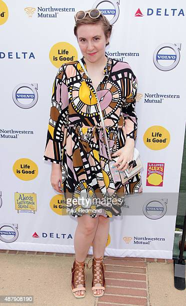Actress Lena Dunham attends the 6th Annual LA Loves Alex's Lemonade at UCLA on September 12 2015 in Los Angeles California
