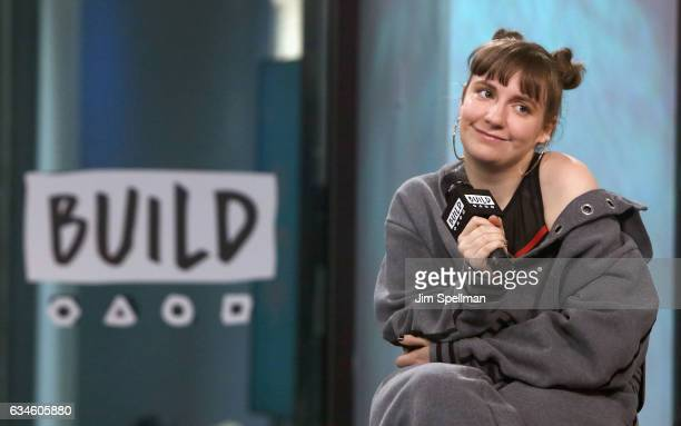 Actress Lena Dunham attends the Build series to discuss 'Girls' Final Season at Build Studio on February 10 2017 in New York City
