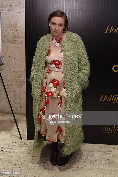 Actress Lena Dunham attends the Hollywood Reporter's 2016 35 Most Powerful People in Media at Four Seasons Restaurant on April 6, 2016 in New York...