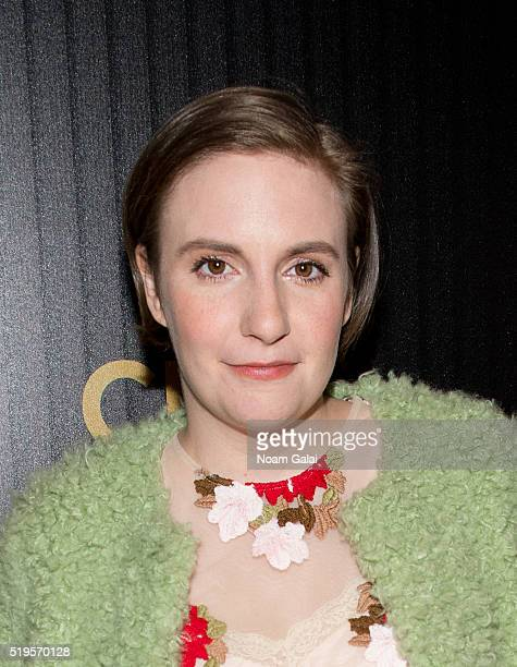 Actress Lena Dunham attends The Hollywood Reporter's 2016 35 Most Powerful People in Media at Four Seasons Restaurant on April 6 2016 in New York City