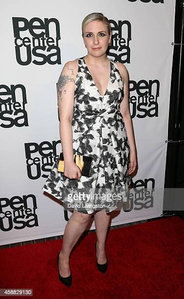 Actress Lena Dunham attends the PEN Center USA's 24th Annual Literary Awards Festival honoring Norman Lear at the Regent Beverly Wilshire Hotel on...