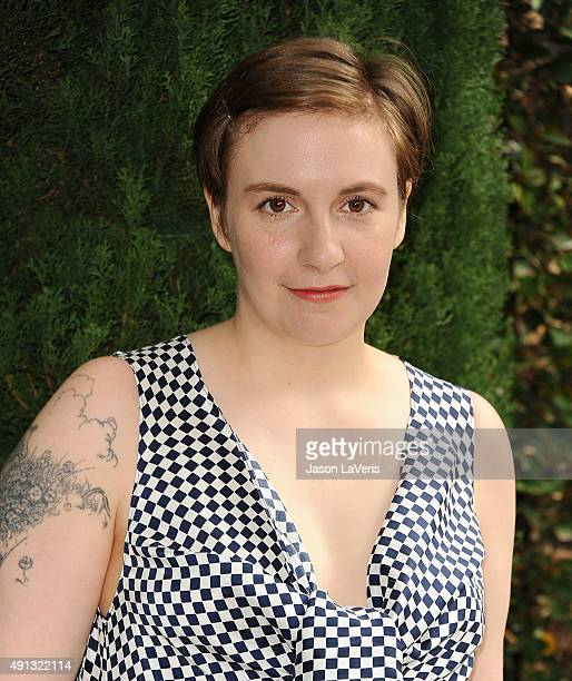 Actress Lena Dunham attends the Rape Foundation's annual brunch at Greenacres The Private Estate of Ron Burkle on October 4 2015 in Beverly Hills...