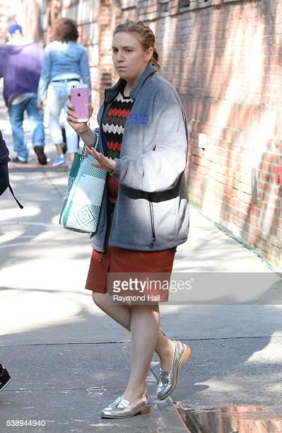 Actress Lena Dunham is seen walking in Soho on June 8 2016 in New York City
