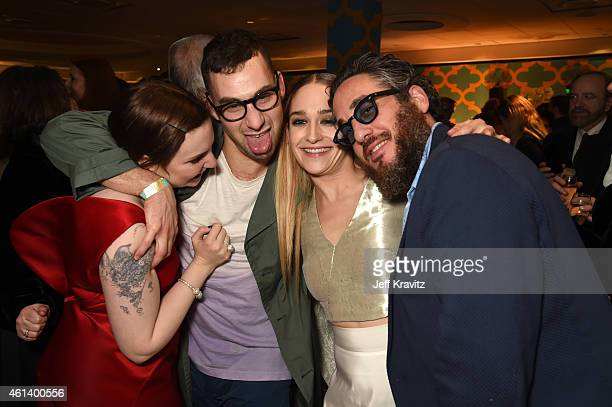 Actress Lena Dunham, musician Jack Antonoff, actress Jemima Kirke and Mike Mosberg attend HBO's Official Golden Globe Awards After Party at The...