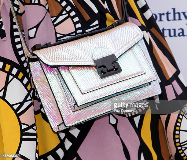 Actress Lena Dunham, purse detail, attends the 6th Annual L.A. Loves Alex's Lemonade at UCLA on September 12, 2015 in Los Angeles, California.