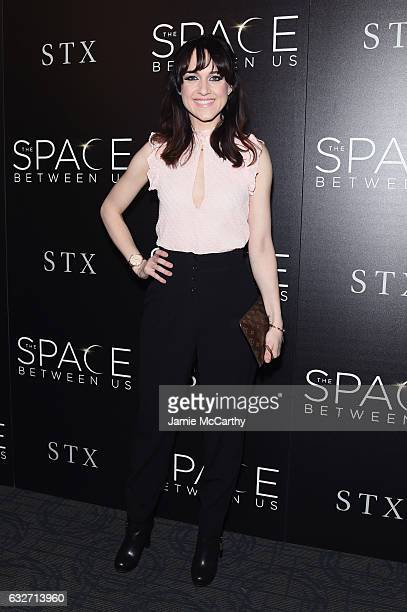 Actress Lena Hall attends a screening of The Space Between Us hosted by The Cinema Society at Landmark Sunshine Cinema on January 25 2017 in New York...