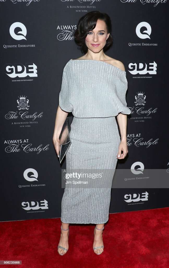 Actress Lena Hall attends the New York premiere of 'Always At The Carlyle' at The Paris Theatre on May 8, 2018 in New York City.
