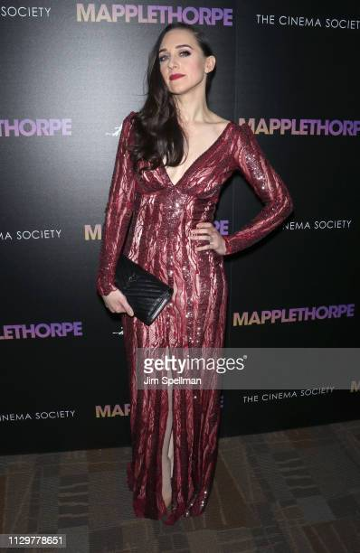 Actress Lena Hall attends the special screening of Mapplethorpe hosted by Samuel Goldwyn Films with The Cinema Society at Cinepolis Chelsea on...