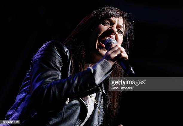 Actress Lena Hall performs during BroadwayCon 2016 at the Hilton Midtown on January 24 2016 in New York City