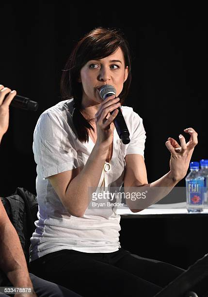 Actress Lena Hall performs during the RentSingA_Long at the 2016 Vulture Festival at Milk Studios on May 22 2016 in New York City