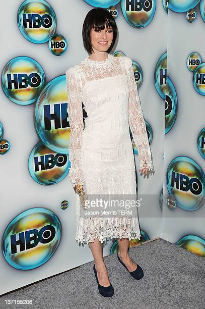 Actress Lena Headey arrives at HBO's Post 2012 Golden Globe Awards Party at Circa 55 Restaurant on January 15 2012 in Beverly Hills California
