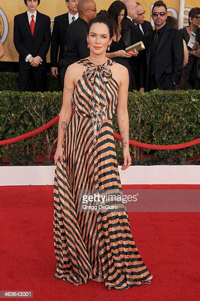Actress Lena Headey arrives at the 20th Annual Screen Actors Guild Awards at The Shrine Auditorium on January 18, 2014 in Los Angeles, California.